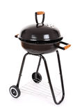 Black barbecue grill. On white Royalty Free Stock Images