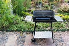 Black barbecue grill. royalty free stock photography