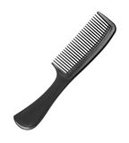Black barber comb Stock Photo