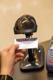 Black Barcode Scanning Member Card Royalty Free Stock Image