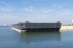 Black barge Stock Images