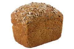 Black barley bread with sunflower and sesame seeds Stock Photography