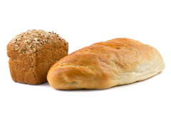 Black barley bread and with sunflower and sesame seeds and loaf Royalty Free Stock Photo