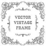 Black baroque frame Royalty Free Stock Image