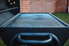Black barrel grill. stock photos