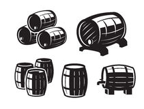 Black barrels icons Royalty Free Stock Photo