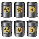 Black barrels. Stock Photos