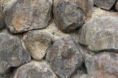 Black Basalt Rock Retaining Wall  Stock Photography
