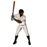 Black Baseball Batter. Black 3D Baseball Batter ready for the action Royalty Free Stock Photo