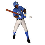Black Baseball Batter Royalty Free Stock Photo