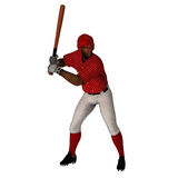 Black Baseball Batter. Black 3D Baseball Batter ready for the action Royalty Free Stock Image
