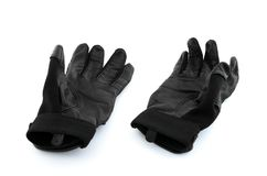 Black baseball batter gloves Stock Image