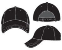 Black baseball cap. Baseball cap, black baseball cap Royalty Free Stock Images