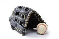 Black Baseball Glove Stock Image