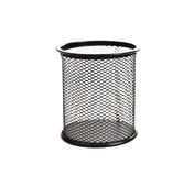 Black basket for pens Royalty Free Stock Image