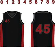 Black basketball jersey royalty free stock image