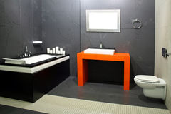 Black bathroom 2 Royalty Free Stock Photo