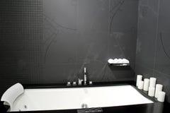 Black bathtub 2 Royalty Free Stock Image