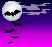 Black Bats Flying Background Royalty Free Stock Image