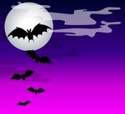 Black Bats Flying Background vector illustration