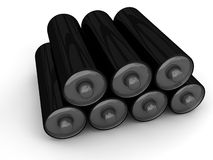 Black battery stock Royalty Free Stock Images