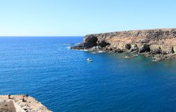 Black Bay (Caleta Negra). Ajuy, Fuerteventura, Canary Islands. Royalty Free Stock Photos