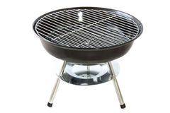 Black bbq. Black new bbq isolated on a white background Royalty Free Stock Image
