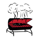 Black BBQ Grill icon Royalty Free Stock Photography