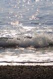The black Beach Stock Image