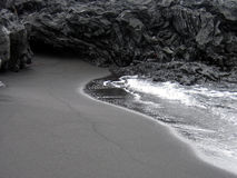 Black beach Stock Photos