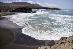 Black beach in Fuerteventura Royalty Free Stock Photos