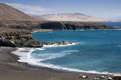 Black beach in Fuertaventura Royalty Free Stock Photo