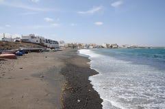 Black Beach on Fuerteventura Spain Royalty Free Stock Photos