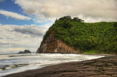 Black beach of Hawaii Royalty Free Stock Images