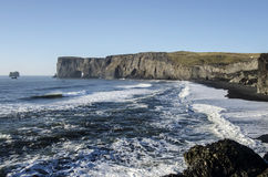 Black Beach Iceland Coast Stock Photos