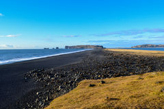 Black beach, Iceland Stock Photography