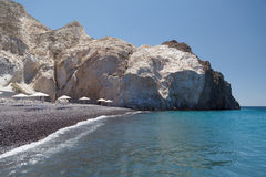 Black Beach In Akrotiri. Santorini. Greece. Stock Photography