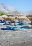 Black beach of Kamari, Santorini Stock Photography