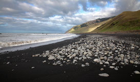 The black beach Royalty Free Stock Photography