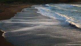 Black beach stock video footage