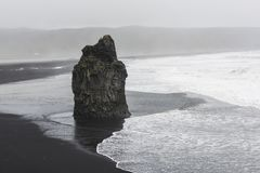 Black beach at Reynisdrangar, Vik, Iceland Stock Images