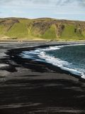 Black beach. In southern Iceland Stock Images
