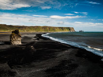 Black beach Royalty Free Stock Photography