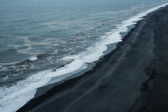 Black Beach. Uncrowded Black Beach at icelandic south coast Royalty Free Stock Photo