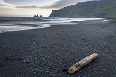 Black beach in Vik, southern Iceland Royalty Free Stock Photo
