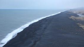 Black beach stock video