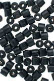 Black beads Stock Photos