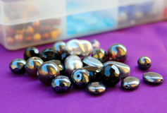 Black Beads Stock Photography