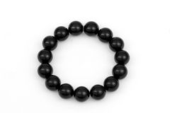 Black beads isolated Royalty Free Stock Photos