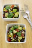 Black bean avocado salad Stock Photo